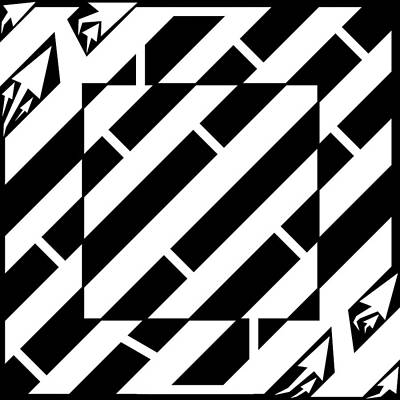 Trippy Maze Art Drawing - Psychedelic Square Maze By Yonatan Frimer by Yonatan Frimer Maze Artist