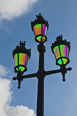 Psychedelic Streetlamps Art Print by Richard Henne