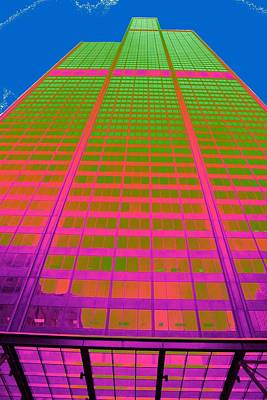 Photograph - Psychedelic Willis Tower by Christopher Kirby
