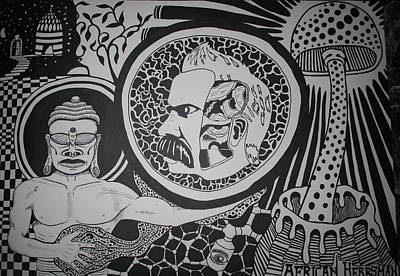 Nietzsche Drawing - Psychedelic by Yonathan Baruc