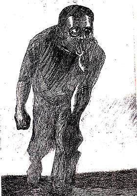 Heredity Drawing - Psychic  Nightmare by Al Goldfarb