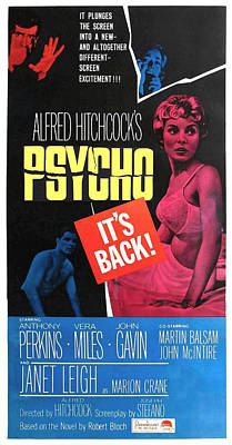 Psycho, Top Left Anthony Perkins Top Art Print by Everett