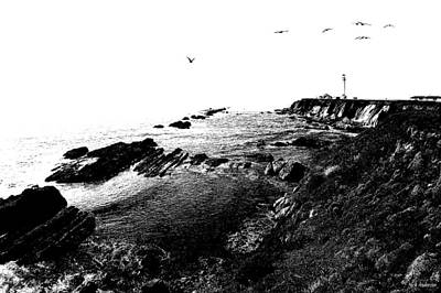 Photograph - Pt Arena Lighthouse With Effect by Mick Anderson