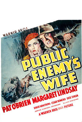 Public Enemys Wife, Margaret Lindsay Art Print by Everett