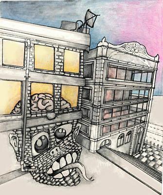 Public Golem Art Print