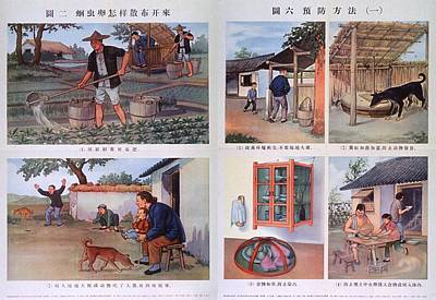 Public Health Education In Red China Print by Everett