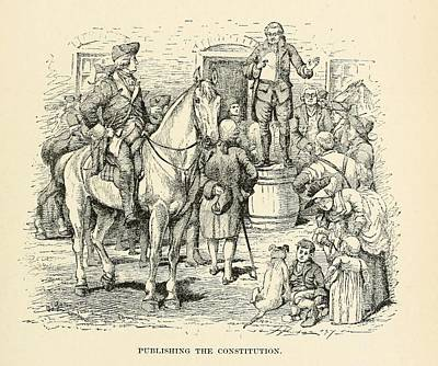 Public Reading Of The Constitution Art Print
