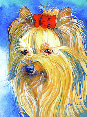 Painting - Puddin' Yorkie Yorkshire Terrier Dog by Jo Lynch