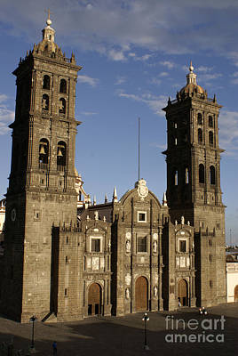 Photograph - Puebla Cathedral Vertical Mexico by John  Mitchell