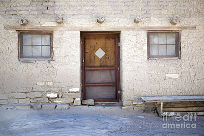 Window Bench Photograph - Pueblo Home by Glennis Siverson