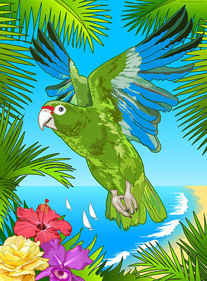 Puerto Rican Parrot Art Print