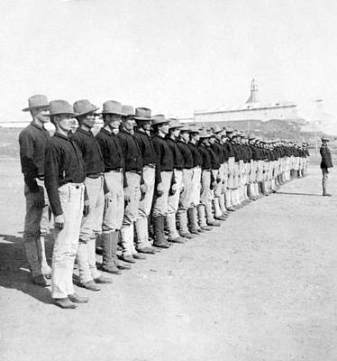 Colonial Troops Photograph - Puerto Ricans Serving In The American Colonial Army - C 1899 by International  Images