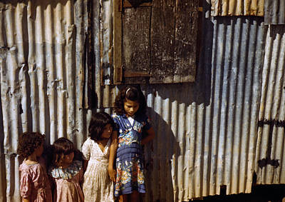 Puerto Rico. Children Of Tenant Farmers Art Print by Everett