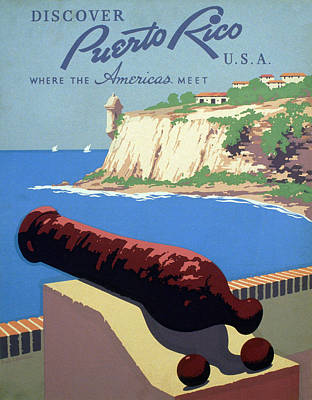 Puerto Rico. Poster Promoting Puerto Art Print by Everett