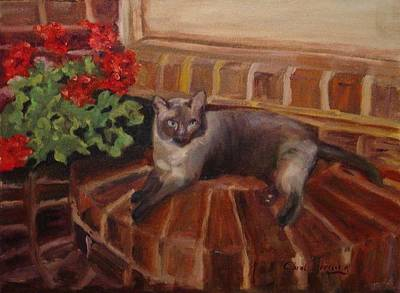 Art Print featuring the painting Puff by Carol Berning