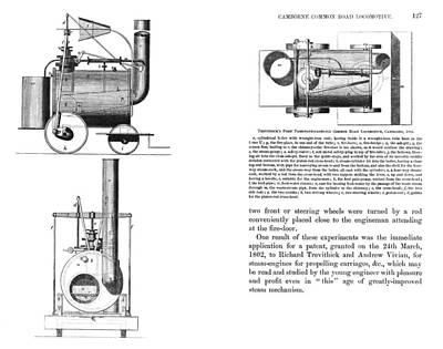 Puffing Devil Locomotive, Artwork Art Print
