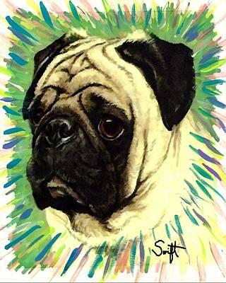 Pug Painting - Pug by Char Swift
