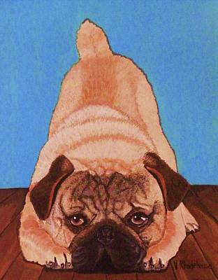 Painting - Pug Dog by Victoria Rhodehouse