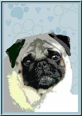 Pug Art Print by One Rude Dawg Orcutt