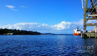 Loading Ship Digital Art - Puget by Michael Wyatt