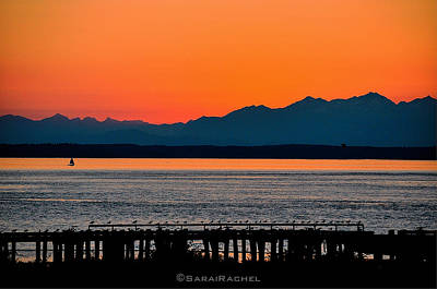Photograph - Puget Sound Sunset by Sarai Rachel
