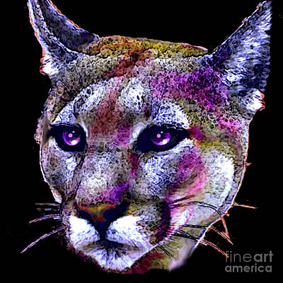 Puma Portrait Art Print by Elinor Mavor