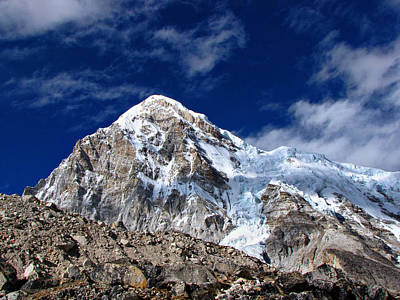 Pumori-everest Base Camp Trek-nepal Art Print by Copyright Michael Mellinger