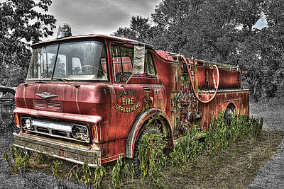 Hdr Photograph - Pumper Number Three by William Fields