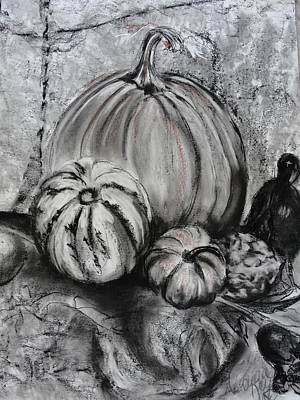 Drawing - Pumpkin And Nevermore by Diana Kaye Obe