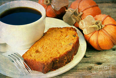 Pumpkin Bread And Coffee Art Print by Darren Fisher