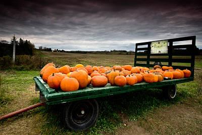 Pumpkin Cart Art Print
