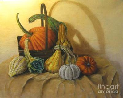 Painting - Pumpkin In A Basket by Patricia Lang