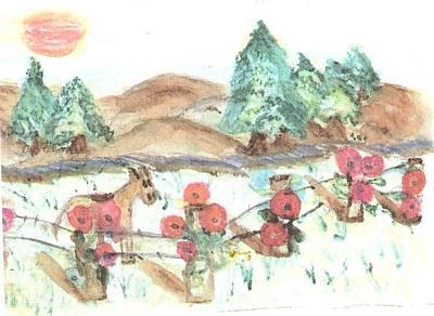 Pumpkin  Invaders Art Print by Thelma Harcum