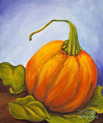 Pumpkin Art Print by Nicole Okun