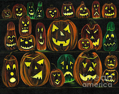 Painting - Pumpkin Party by Gail Finn