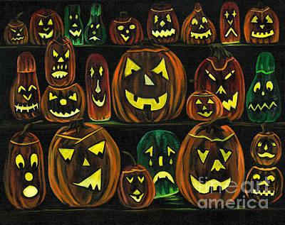 Painting - Pumpkin Party by Gail Finn