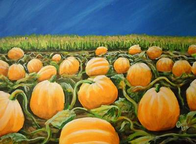 Painting - Pumpkin Patch by Cami Lee