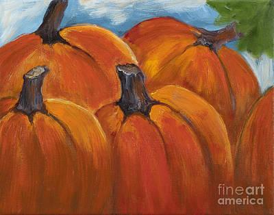 Painting - Pumpkin Patch by Pati Pelz