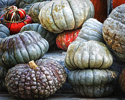 Pumpkin Pile II Art Print by Joan Carroll