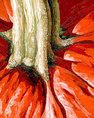 Painting - Pumpkin Stem by Chris Steinken