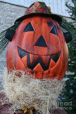 Photograph - Pumpkinhead by Susan Herber