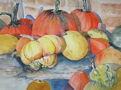 Pumpkins And Gourds Art Print