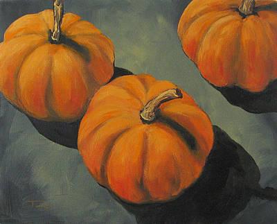 Pumpkins And Shadows Original
