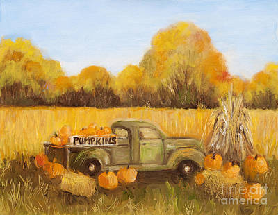 Painting - Pumpkins For Sale by Pati Pelz