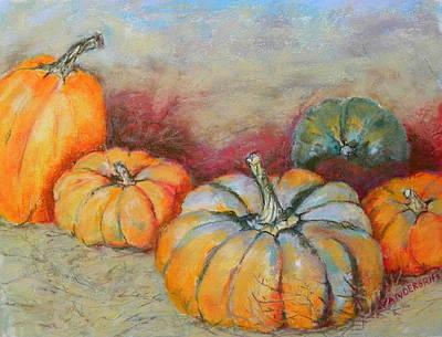 Pumpkins Art Print by Hilda Vandergriff
