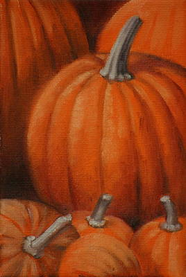 Pumpkins Art Print by Linda Eades Blackburn