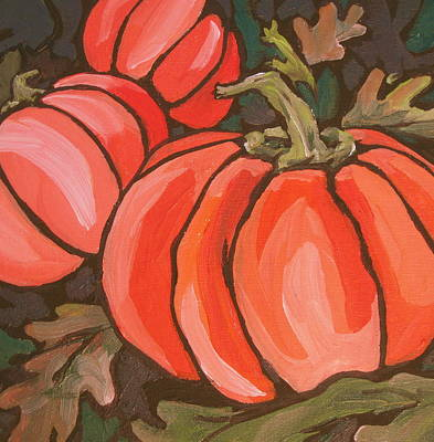 Painting - Pumpkins by Sandy Tracey