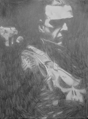 Drawing - Punisher by Milton  Gore