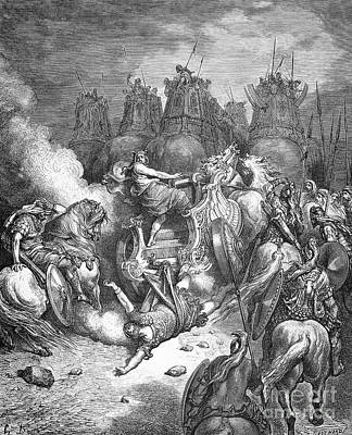 Recently Sold - Animals Drawings - Punishment Of Antiochus by Gustave Dore
