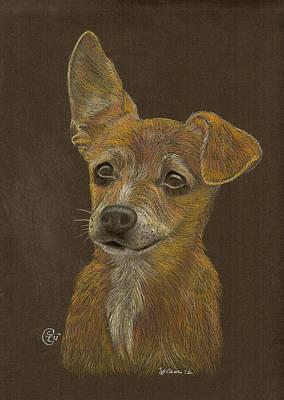Pup Art Print by Stephanie L Carr
